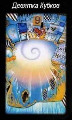 Nine Tarot Cups - the value of the card