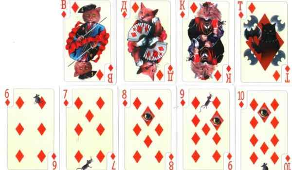 Divination on playing cards - layouts and values