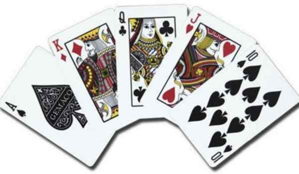 Divination by man on playing cards