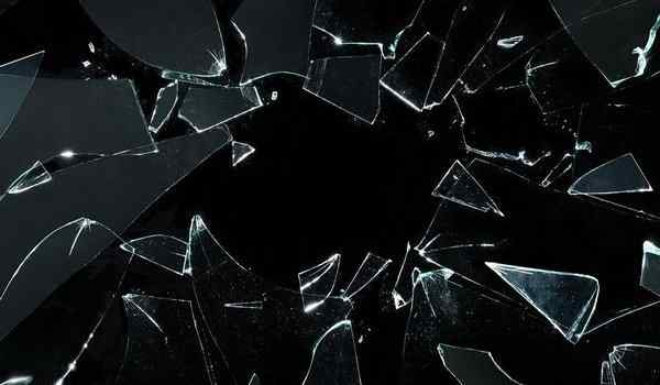 What dreams of broken glass: window, on the phone, shards of broken glass in a dream